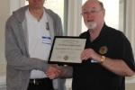 Layout Appreciation Certificate Recipient   [Mark Wallace photo]